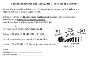 T-Shirt bestellschein